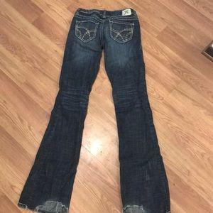 Hydraulic stretch jean